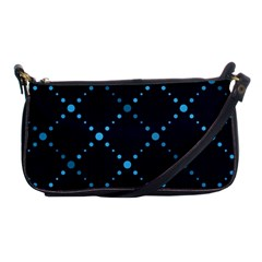 Seamless Geometric Blue Dots Pattern  Shoulder Clutch Bags