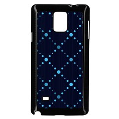 Seamless Geometric Blue Dots Pattern  Samsung Galaxy Note 4 Case (black) by TastefulDesigns