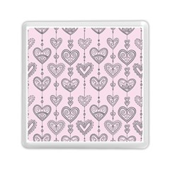Sketches Ornamental Hearts Pattern Memory Card Reader (square)  by TastefulDesigns
