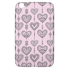 Sketches Ornamental Hearts Pattern Samsung Galaxy Tab 3 (8 ) T3100 Hardshell Case