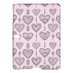 Sketches Ornamental Hearts Pattern Samsung Galaxy Tab S (10 5 ) Hardshell Case