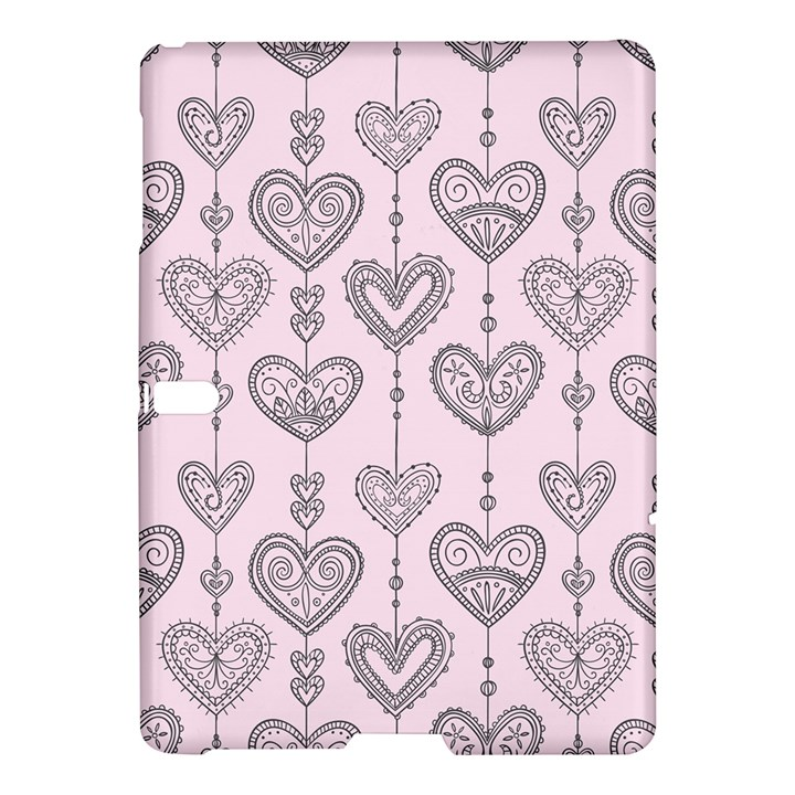 Sketches Ornamental Hearts Pattern Samsung Galaxy Tab S (10.5 ) Hardshell Case