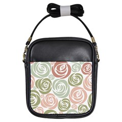 Retro Elegant Floral Pattern Girls Sling Bags by TastefulDesigns
