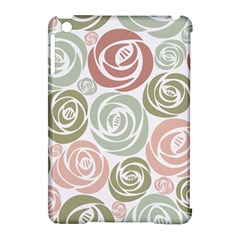 Retro Elegant Floral Pattern Apple Ipad Mini Hardshell Case (compatible With Smart Cover)