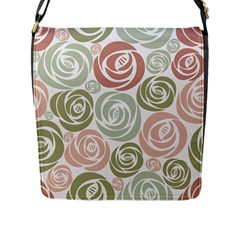 Retro Elegant Floral Pattern Flap Messenger Bag (l)  by TastefulDesigns