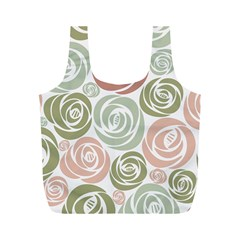 Retro Elegant Floral Pattern Full Print Recycle Bags (m)  by TastefulDesigns