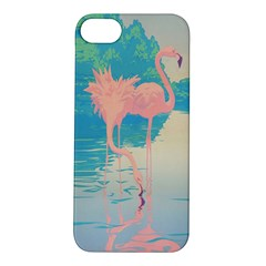 Two Pink Flamingos Pop Art Apple Iphone 5s/ Se Hardshell Case by WaltCurleeArt