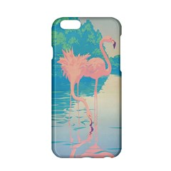 Two Pink Flamingos Pop Art Apple Iphone 6/6s Hardshell Case by WaltCurleeArt