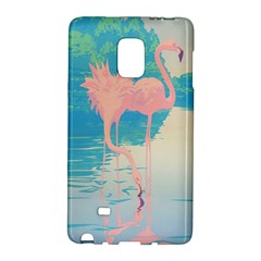 Two Pink Flamingos Pop Art Galaxy Note Edge