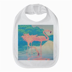 Two Pink Flamingos Pop Art Bib by WaltCurleeArt