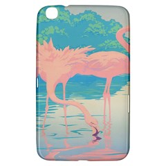 Two Pink Flamingos Pop Art Samsung Galaxy Tab 3 (8 ) T3100 Hardshell Case  by WaltCurleeArt