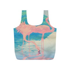 Two Pink Flamingos Pop Art Full Print Recycle Bags (s)