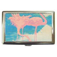 Two Pink Flamingos Pop Art Cigarette Money Cases by WaltCurleeArt