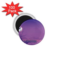 Abstract Tropical Birds Purple Sunset  1 75  Magnets (100 Pack)  by WaltCurleeArt