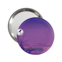 Abstract Tropical Birds Purple Sunset  2 25  Handbag Mirrors by WaltCurleeArt