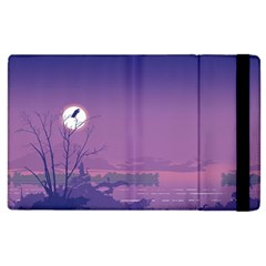 Abstract Tropical Birds Purple Sunset  Apple Ipad 2 Flip Case by WaltCurleeArt