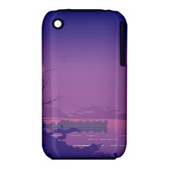 Abstract Tropical Birds Purple Sunset  Apple Iphone 3g/3gs Hardshell Case (pc+silicone) by WaltCurleeArt