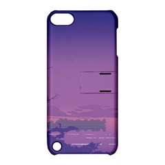 Abstract Tropical Birds Purple Sunset  Apple Ipod Touch 5 Hardshell Case With Stand by WaltCurleeArt