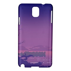 Abstract Tropical Birds Purple Sunset  Samsung Galaxy Note 3 N9005 Hardshell Case by WaltCurleeArt