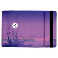 Abstract Tropical Birds Purple Sunset  Ipad Air Flip by WaltCurleeArt
