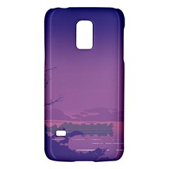 Abstract Tropical Birds Purple Sunset  Galaxy S5 Mini by WaltCurleeArt