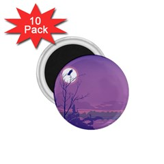 Abstract Tropical Birds Purple Sunset 1 75  Magnets (10 Pack)  by WaltCurleeArt