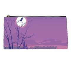 Abstract Tropical Birds Purple Sunset Pencil Cases by WaltCurleeArt