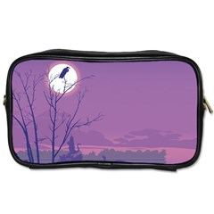 Abstract Tropical Birds Purple Sunset Toiletries Bags 2 Side by WaltCurleeArt