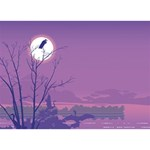 Abstract Tropical Birds Purple Sunset HOPE 3D Greeting Card (7x5)  Back