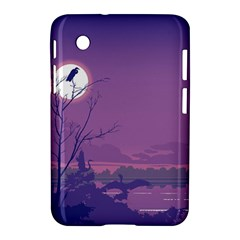 Abstract Tropical Birds Purple Sunset Samsung Galaxy Tab 2 (7 ) P3100 Hardshell Case  by WaltCurleeArt