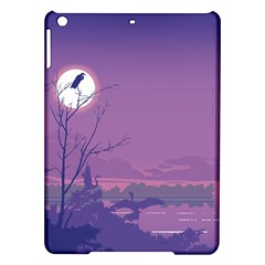 Abstract Tropical Birds Purple Sunset Ipad Air Hardshell Cases by WaltCurleeArt
