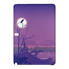 Abstract Tropical Birds Purple Sunset Samsung Galaxy Tab Pro 12 2 Hardshell Case by WaltCurleeArt
