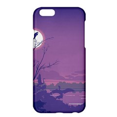 Abstract Tropical Birds Purple Sunset Apple Iphone 6 Plus/6s Plus Hardshell Case by WaltCurleeArt