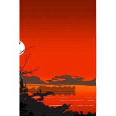 Tropical Birds Orange Sunset Landscape 5 5  X 8 5  Notebooks by WaltCurleeArt