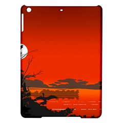 Tropical Birds Orange Sunset Landscape Ipad Air Hardshell Cases by WaltCurleeArt