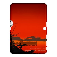 Tropical Birds Orange Sunset Landscape Samsung Galaxy Tab 4 (10 1 ) Hardshell Case  by WaltCurleeArt
