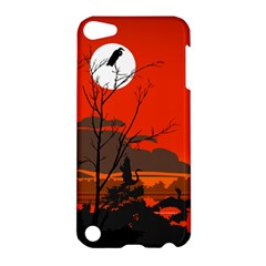 Tropical Birds Orange Sunset Landscape Apple Ipod Touch 5 Hardshell Case