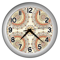 1940s Lace Stitch Wall Clocks (silver)  by TCH01