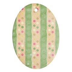 Seamless Colorful Dotted Pattern Ornament (oval)  by TastefulDesigns