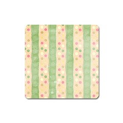 Seamless Colorful Dotted Pattern Square Magnet by TastefulDesigns