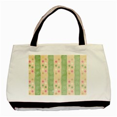 Seamless Colorful Dotted Pattern Basic Tote Bag by TastefulDesigns