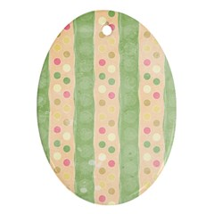 Seamless Colorful Dotted Pattern Oval Ornament (two Sides) by TastefulDesigns