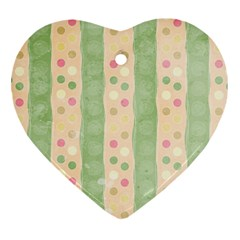 Seamless Colorful Dotted Pattern Heart Ornament (2 Sides) by TastefulDesigns