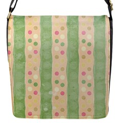Seamless Colorful Dotted Pattern Flap Messenger Bag (s) by TastefulDesigns