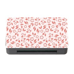 Red Seamless Floral Pattern Memory Card Reader With Cf