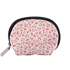 Red Seamless Floral Pattern Accessory Pouches (small)  by TastefulDesigns