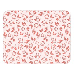 Red Seamless Floral Pattern Double Sided Flano Blanket (large)  by TastefulDesigns