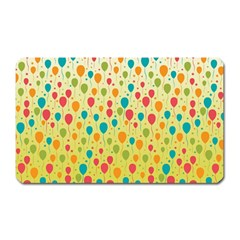 Colorful Balloons Backlground Magnet (rectangular)