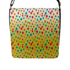 Colorful Balloons Backlground Flap Messenger Bag (l)  by TastefulDesigns