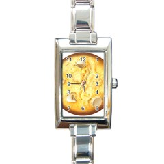 White Chocolate Chip Lemon Cookie Novelty Rectangle Italian Charm Watch by WaltCurleeArt